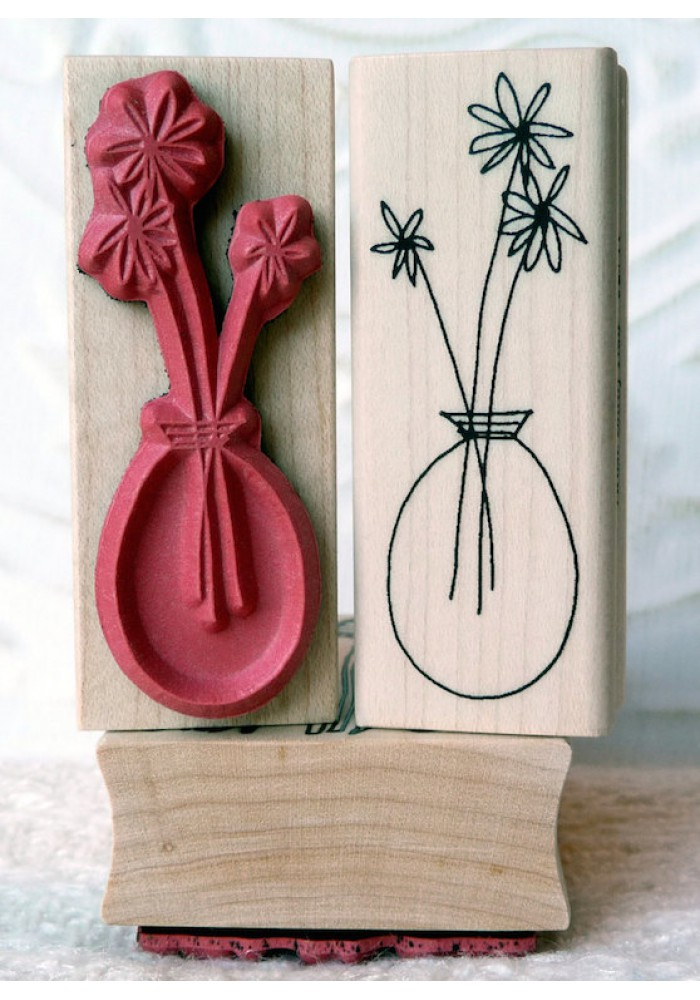 Clear Vase Rubber Stamp