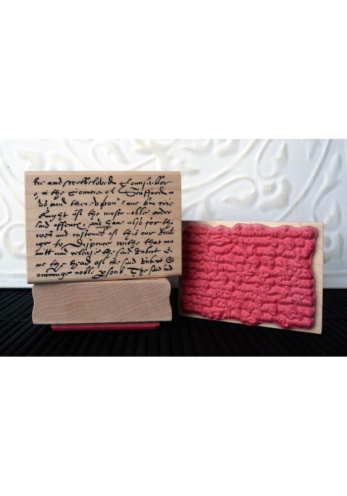 Olde English Text Background Rubber Stamp