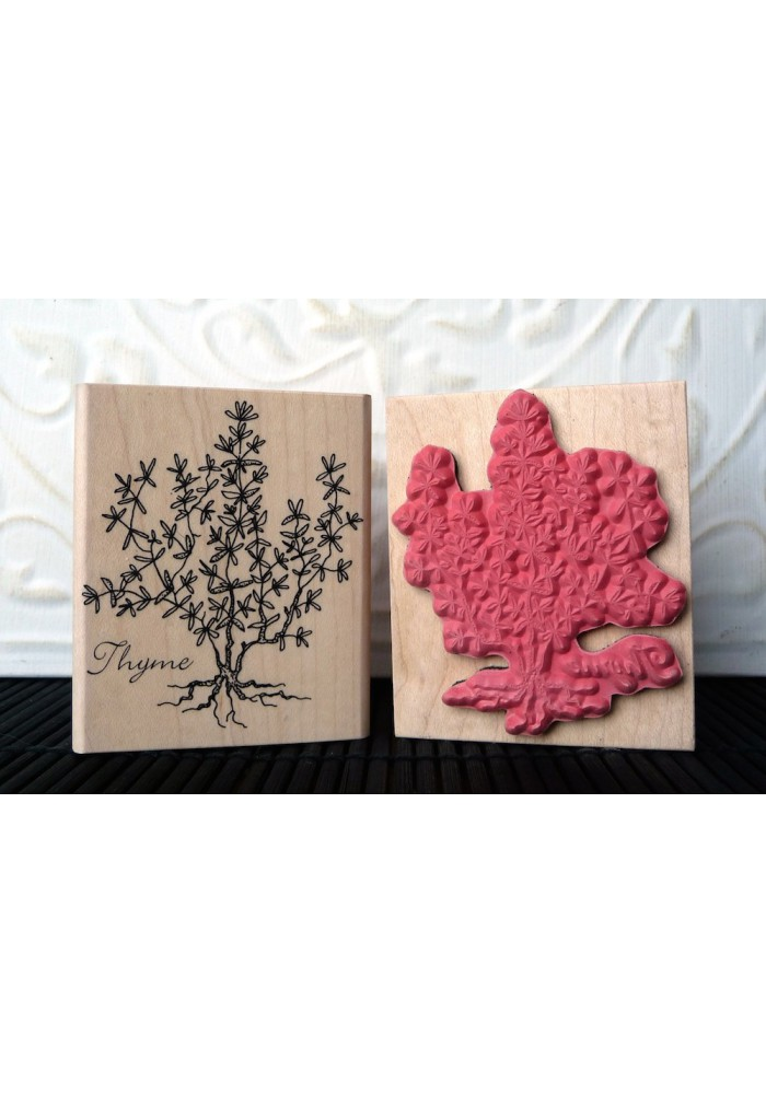 Thyme Rubber Stamp