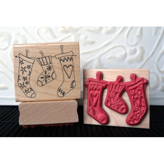 Stockings Rubber Stamp