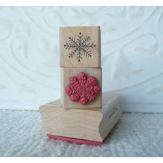 Tiny Snowflake Rubber Stamp