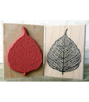 Skeleton Leaf Rubber Stamp