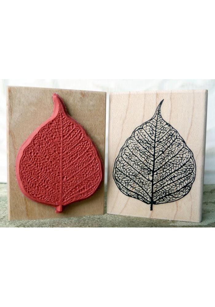 Skeleton Leaf Rubber Stamp