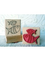 Big Fish Little Fish Rubber Stamp