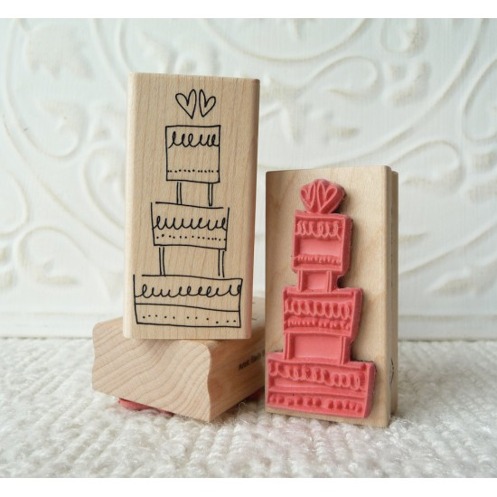 Wedding Cake Rubber Stamp