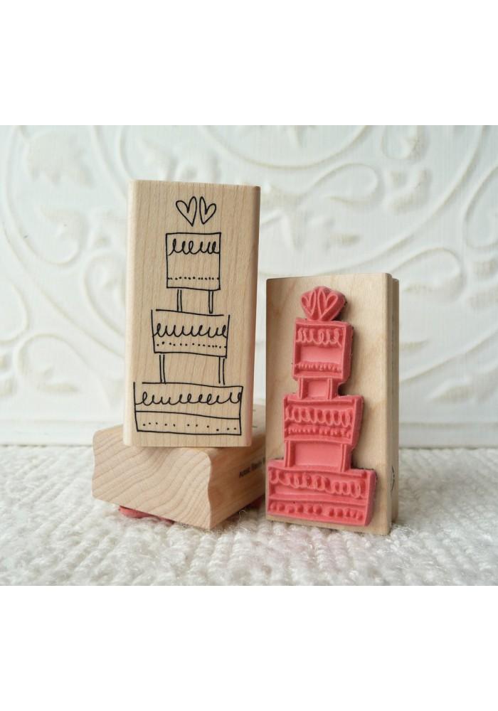 Wedding Cake Rubber Stamp