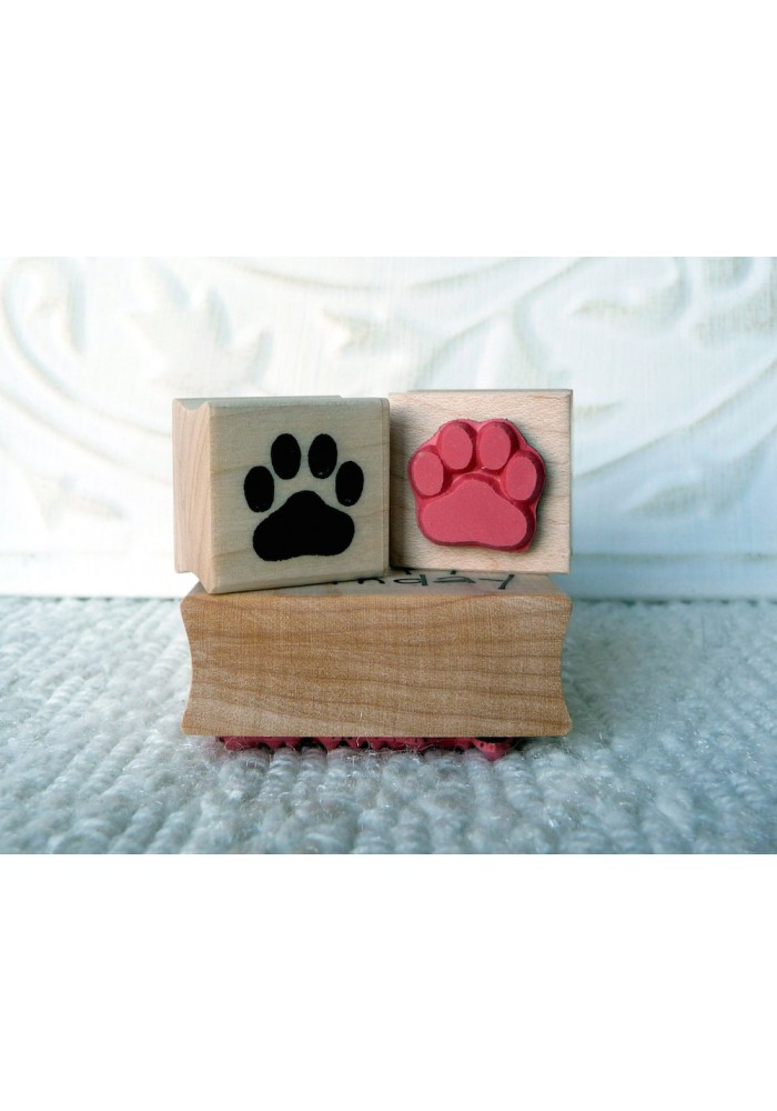 Paw Print Rubber Stamp