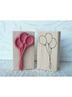 Balloons Rubber Stamp