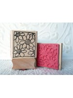 Framed Blooms Rubber Stamp