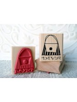 Diva Purse Rubber Stamp