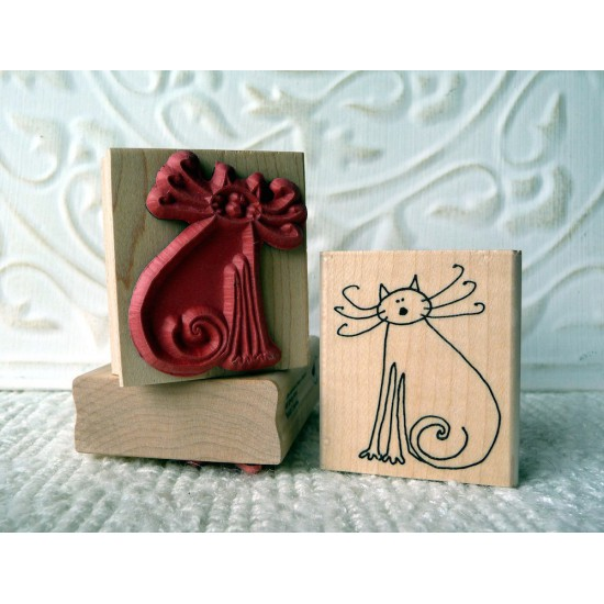 Kitty Rubber Stamp