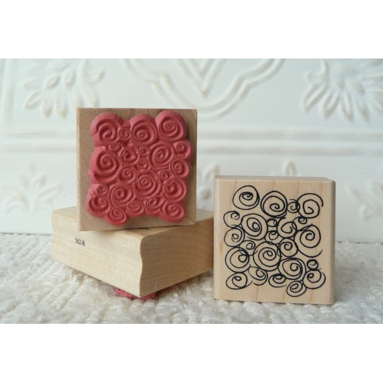 Background Swirls Rubber Stamp