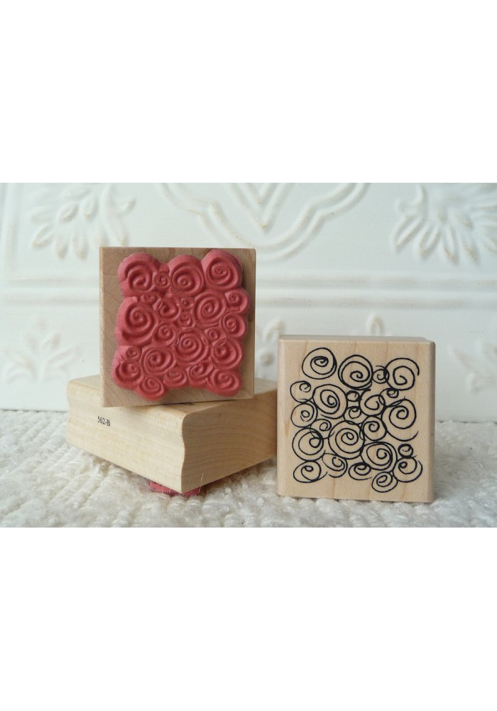 Background Swirls Rubber Stamp
