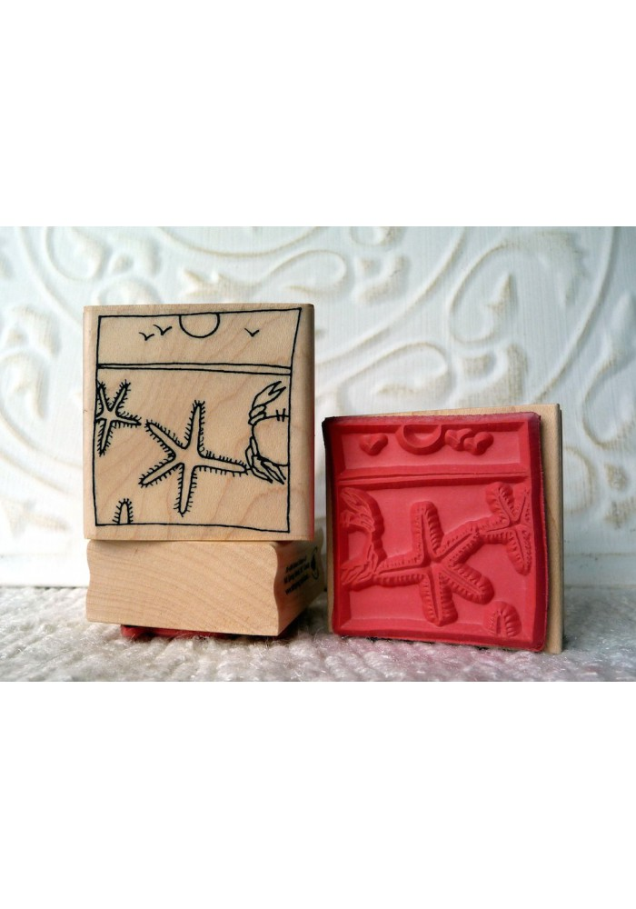 Beach Rubber Stamp