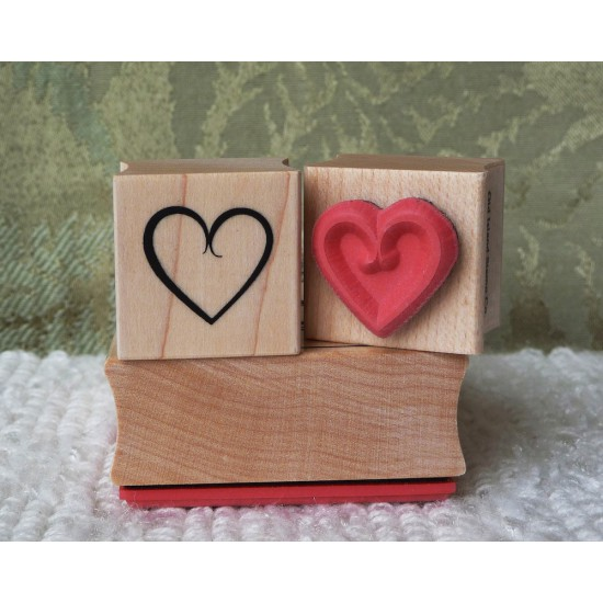 Simple Heart Rubber Stamp