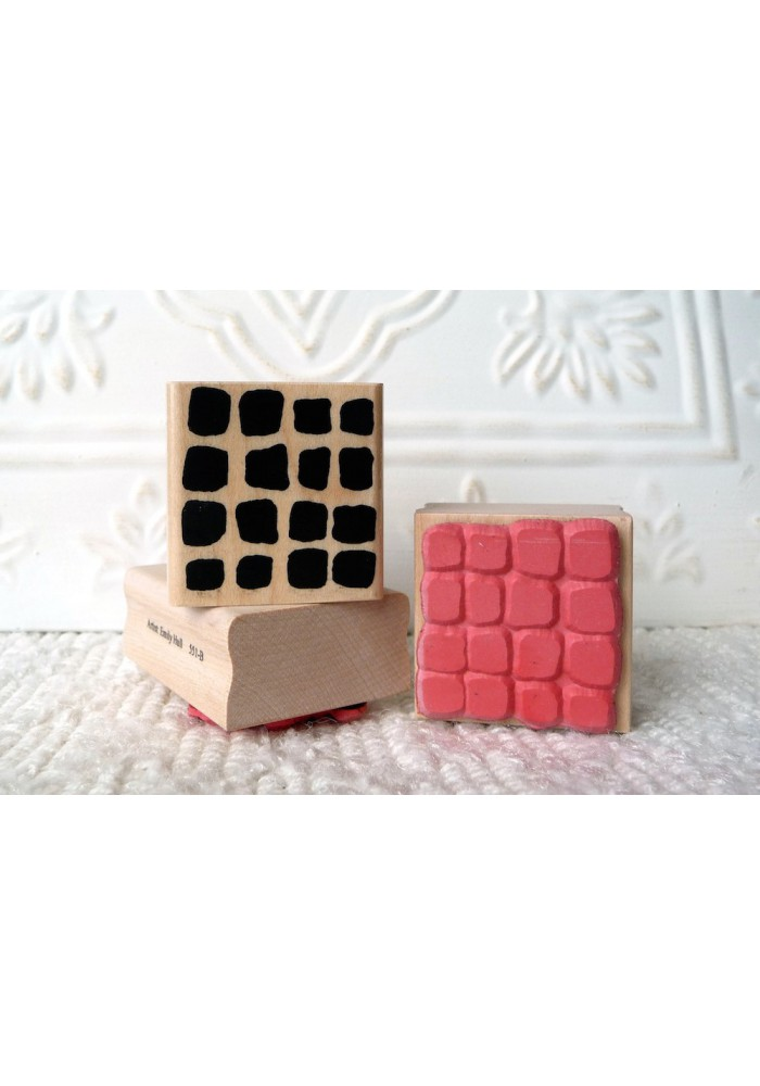 Background Blocks Rubber Stamp