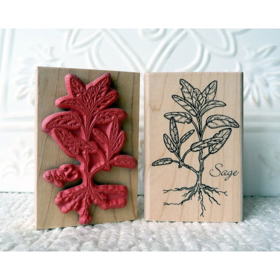 Sage Rubber Stamp