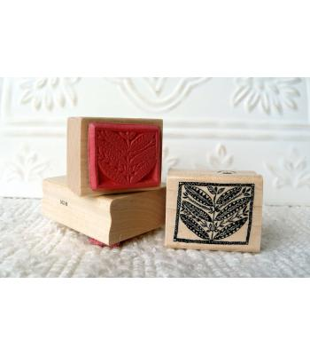 Textile Leaves Rubber Stamp