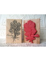 Parsley Rubber Stamp