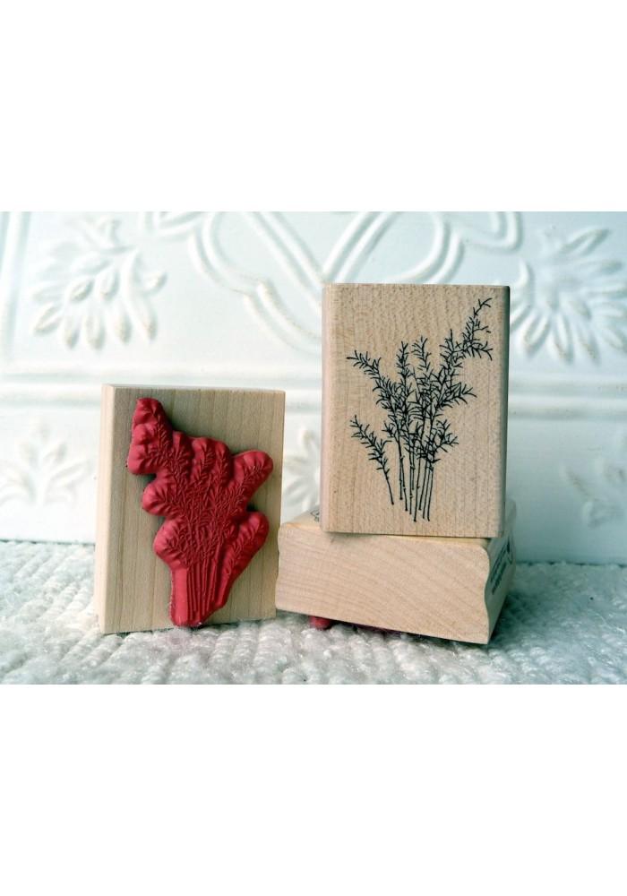 Wispy Plant Rubber Stamp