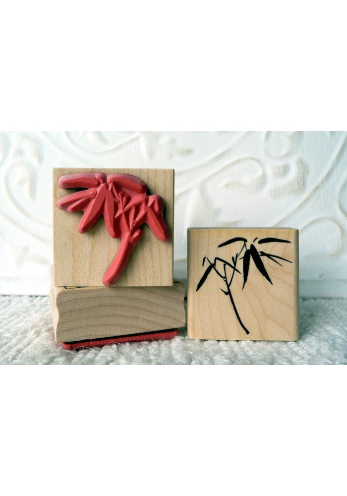 Small Bamboo Rubber Stamp