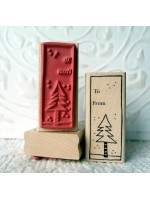 To From ChristmasTree Tag Rubber Stamp