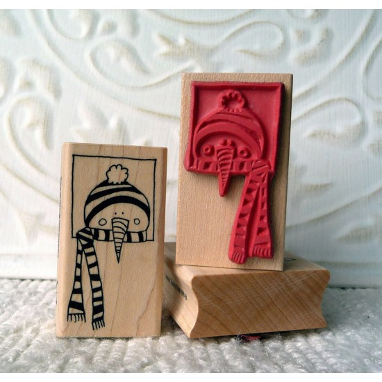 Frosty the Snowman Rubber Stamp