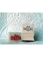 Kitty Face Rubber Stamp