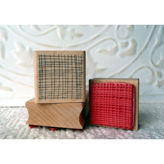 Background Mesh Rubber Stamp