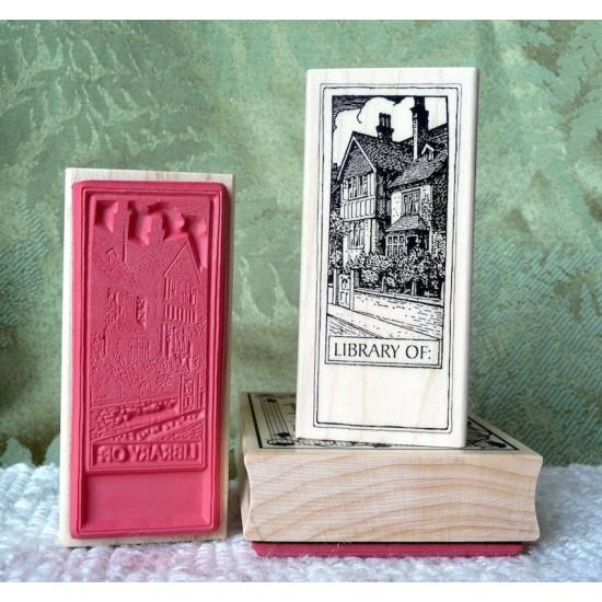 Classic Bookplate Rubber Stamp