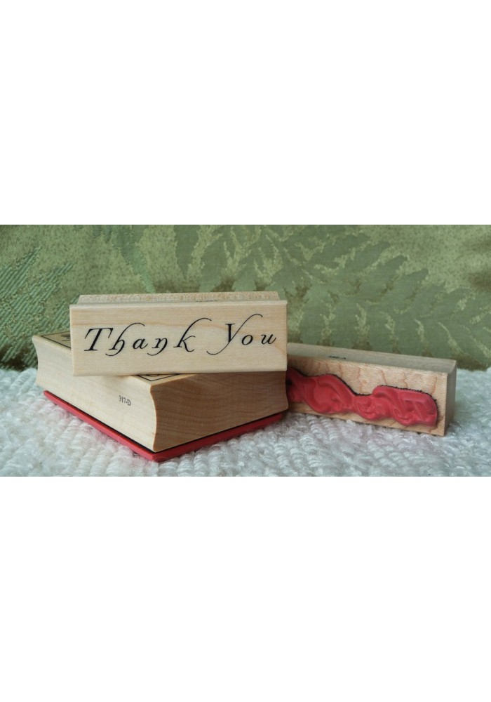 Small Thank-you Rubber Stamp