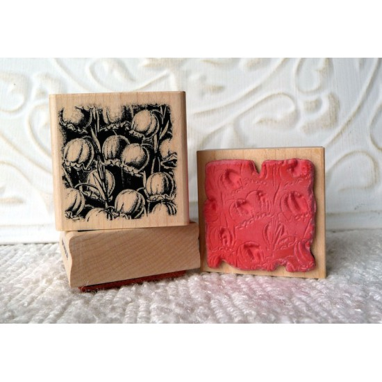 Lily of the Valley Flower Rubber Stamp