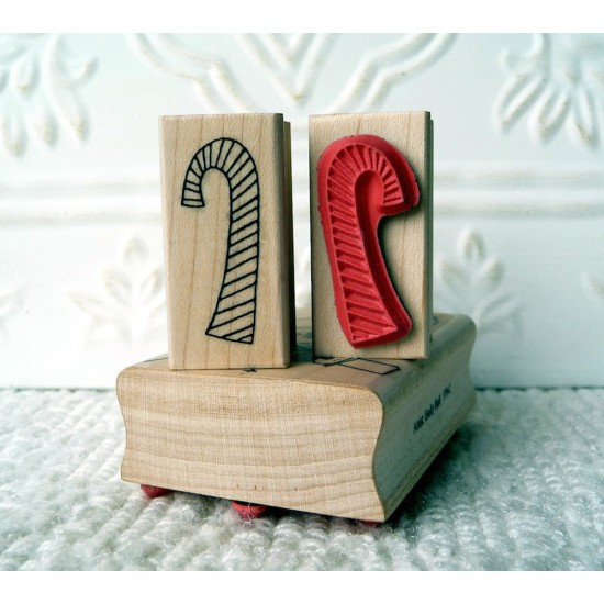 Candy Cane Rubber Stamp
