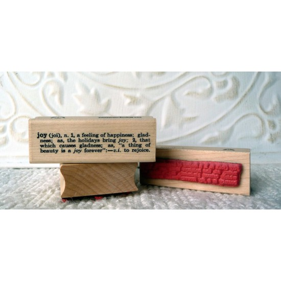 Joy Definition Rubber Stamp