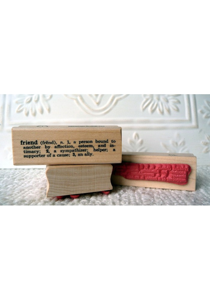 Friend Definition Rubber Stamp