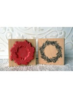Bonnie's Wreath Rubber Stamp