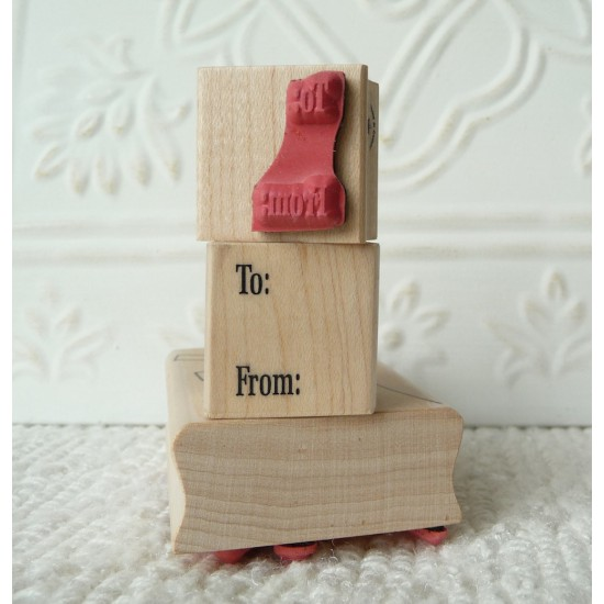 Simply To From Rubber Stamp