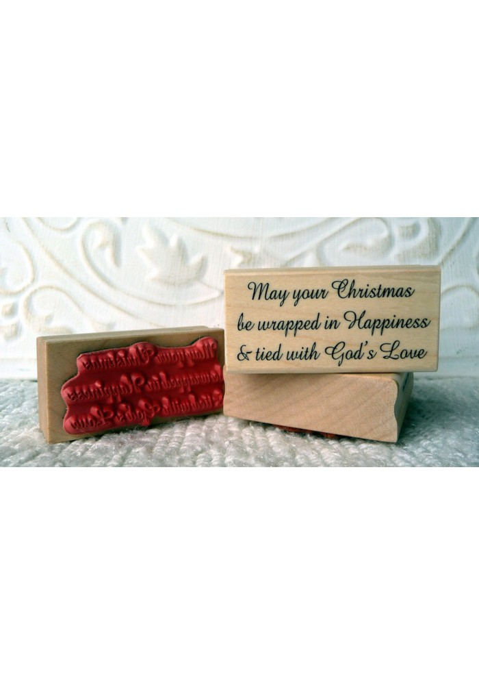 Tied with God's Love Rubber Stamp