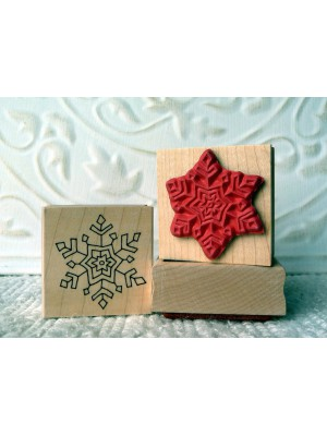 Single Snowflake Rubber Stamp