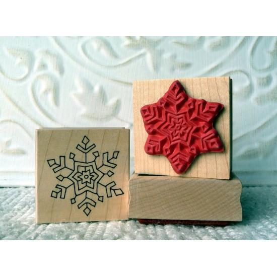 Single Snowflake Rubber Stamp