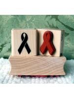 Awareness Ribbon Rubber Stamp