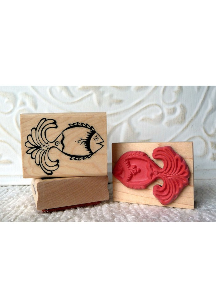 Funky Fish Rubber Stamp
