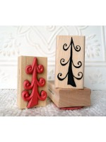Funky Tree Rubber Stamp