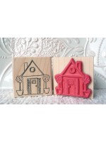 Little House Rubber Stamp