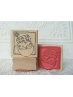 Scottish Santa  Rubber Stamp