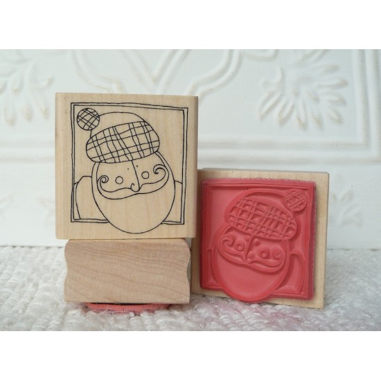 Scottish Santa  Rubber Stamp