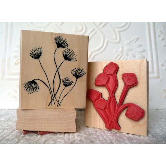 Queen Anne's Lace Rubber Stamp