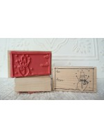 To From Snowman Rubber Stamp