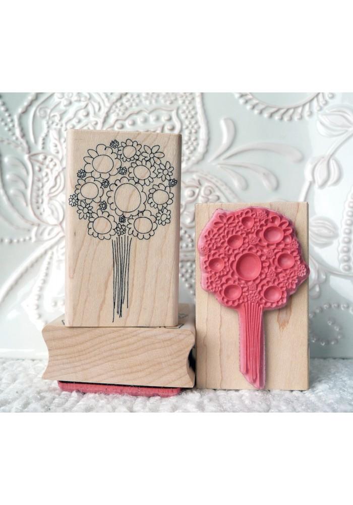 Floral Bouquet Rubber Stamp