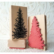Classic Fir Tree Rubber Stamp